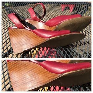 Maripe Burgundy Leather Shoes, 8.5