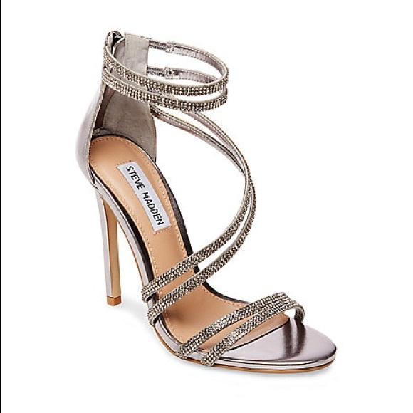 fdc9ef56076 Steve Madden Sweetest - Rhinestone Heel Sandal