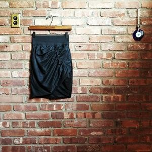 Elizabeth And James Black Silk Blend Skirt