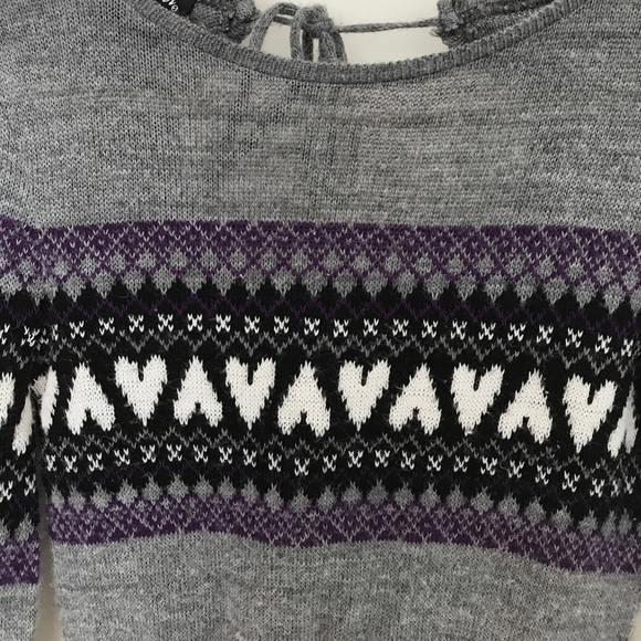 76% off Wet Seal Sweaters - Wet Seal Fair Isle Sweater w/Hearts ...