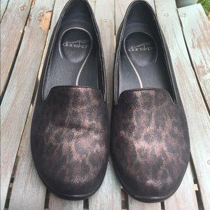 Women's Dansko Animal Print Slip On Shoes 8/38