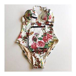 7e88d76f90262 Anthropologie Swim - •Anthropologie floral scalloped maillot swimsuit•