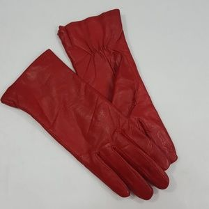 Vintage Red leather Gloves M