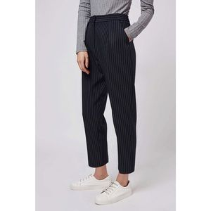Topshop striped navy pants