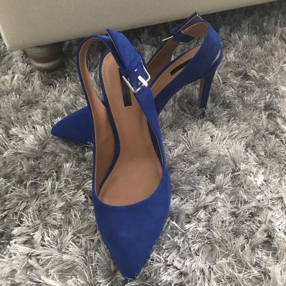 Zara Shoes | Zara Royal Blue Sling Back