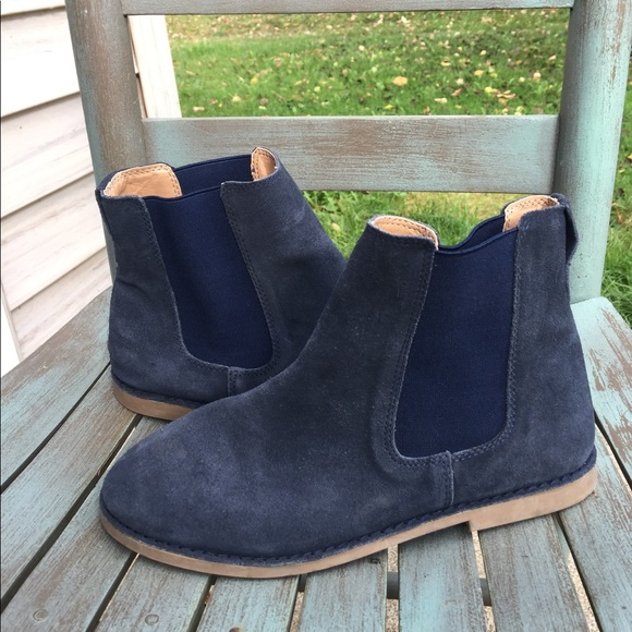 navy boots for girls