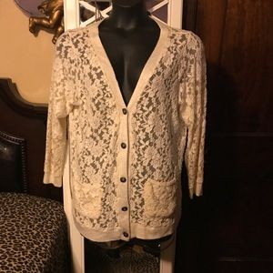 Maurice's 2 cardigan jr plus 2 lace