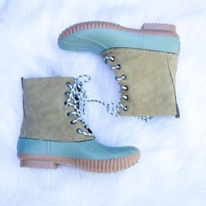 Shoes - Sage Duck Boots