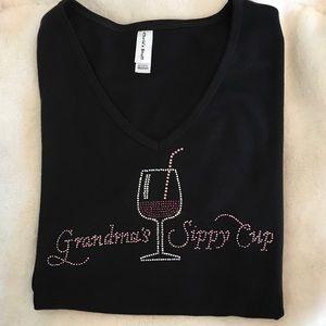 Grandma's sippy cup short sleeve tee-shirt size M