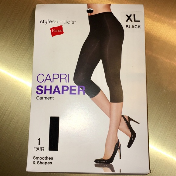 a99396c309dbe Hanes Other - Hanes Capri Shaper XL