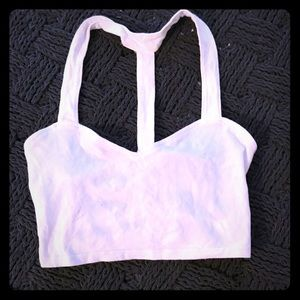 Tops - White crop top with caged back