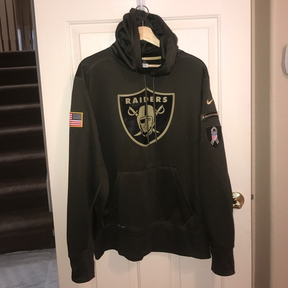 new arrival 4642c 81d4a Nike Raiders Salute to Service Hoodie