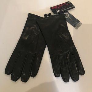 NWT$110 GRANDOE Sensor Touch Leather Gloves M