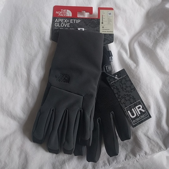 349903929 Men's North face apex + etip gloves NWT