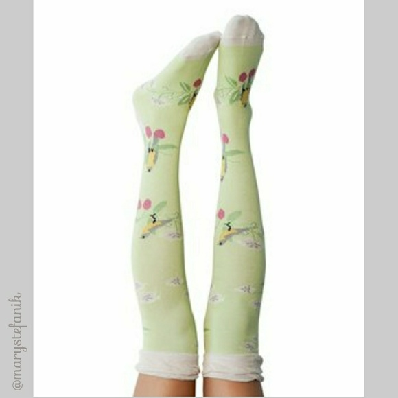 Peony and Moss Accessories - {New} NWT Peony and Moss Branches Knee High Socks