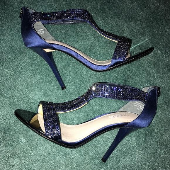 Glint Sparkly Navy Blue Heels | Poshmark