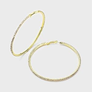 Jewelry - ✨Brilliant and Sparkly Hoop Earrings✨