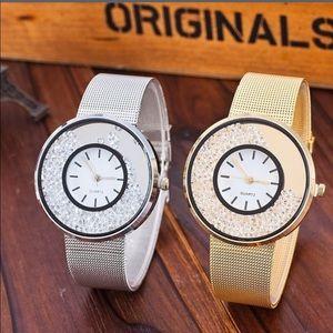 Accessories - ✨HP✨Stainless Steel Sparkle Quartz Watch