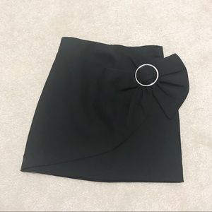 Zara sarong black mini skirt