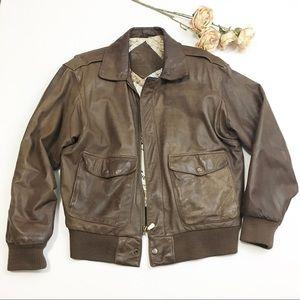 Preston & York Leather Coat with Map Interior