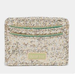Deux Lux Daiquiri Gold Glitter Card Case