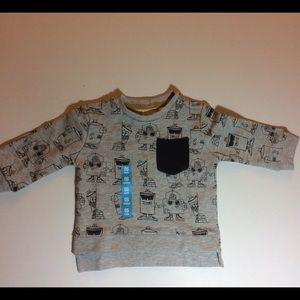 NWOT Zara Baby Boy Graffiti Paint Sweatshirt 3/6M