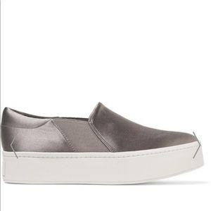 Vince Warren silver satin sneakers 7