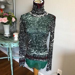 Jean Paul Gaultier fitted turtleneck long sleeve