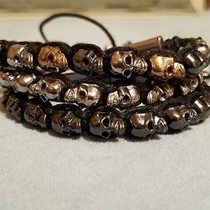BaubleBar Jewelry - 3 BaubleBar Skull drawcord bracelets