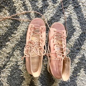 Asos pink platform sandals