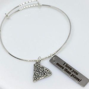 Jewelry - Pizza Best Friend Charm Bracelet
