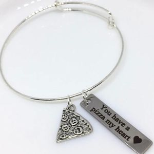 Jewelry - Best Friend Pizza Charm Bracelet