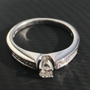 14K White Gold Princess Cut Diamond Engagement 💍