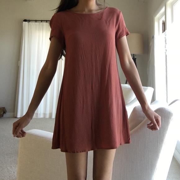 29b36a7bf880 Forever 21 Dresses   Skirts - Burnt orange shirt dress