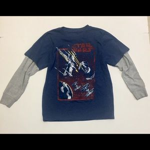 Boys Star Wars Long Sleeve T-Shirt, Size Large