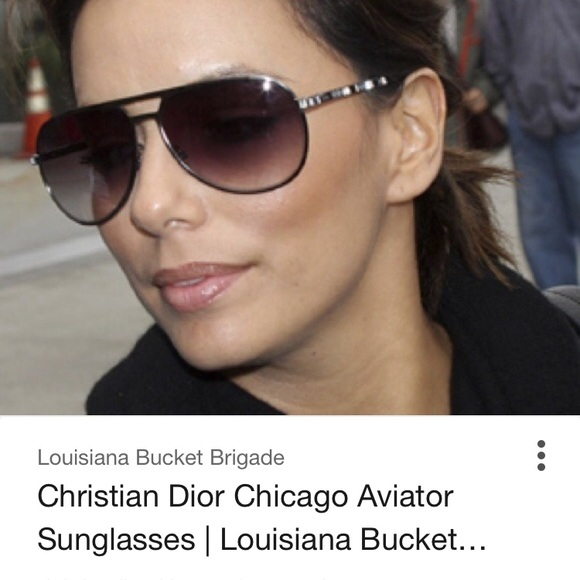 a85f7d45dff7 Christian Dior Accessories - Dior chicago 2 strass black aviator sunglasses