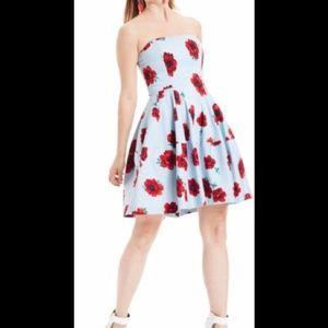 Betsey Johnson Dresses - Betsey Johnson Blue & Red Floral Dress Sz 2