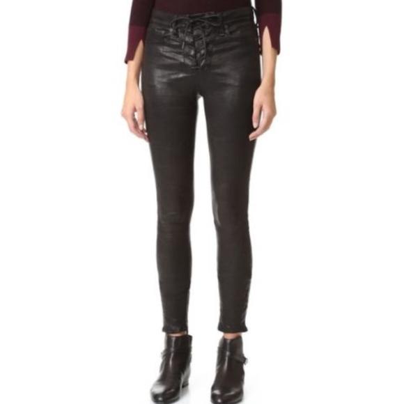 f105cdeec28cf rag & bone Pants | Nwt Rag Bone Tie Front Blk Leather Leggings 27 ...