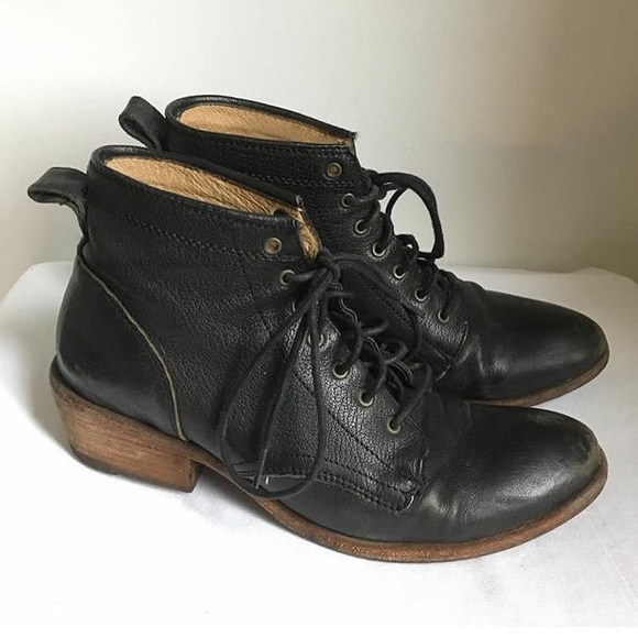 b7598f313f1c1 Frye Shoes | Carson Lace Up Boot Black Size 8 | Poshmark