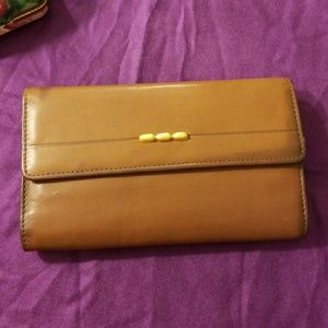 Handbags - Rolfs VINTAGE leather wallet with gold detail