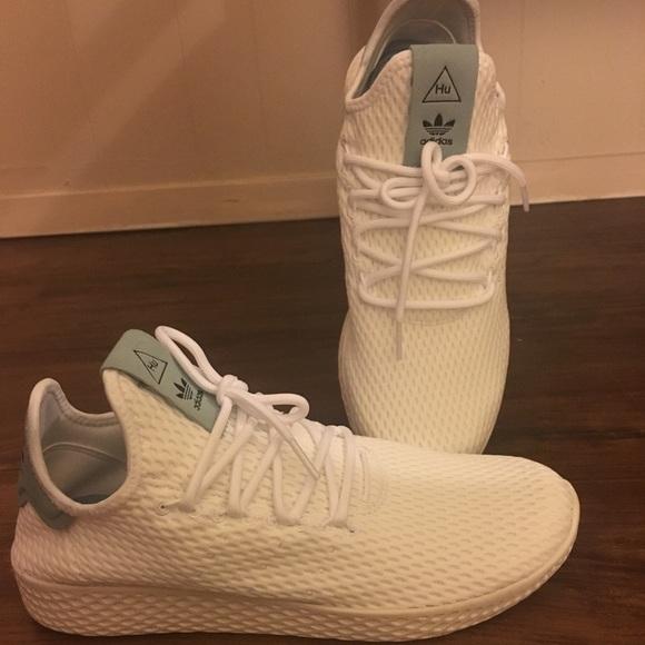 8eeb30d8665d8 Adidas white tennis Hu sneakers