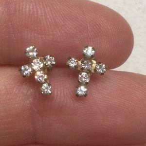Jewelry - Diamond cross studs