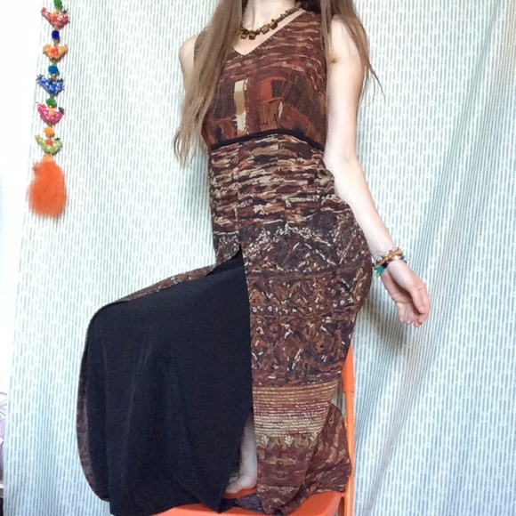 Carole Little Dresses & Skirts - Vintage Lady's Mountain Goddess Lounge Maxi
