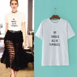 We should all be feminists t-shirt feminism women