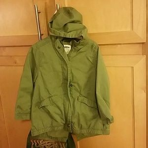 Girls old Navy green military jacket