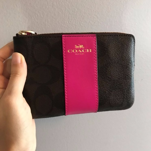 Coach Bags Wristlet Signature Small Wallet Women Purse Poshmark