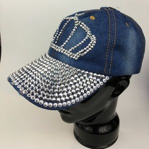 Accessories - 🆕  CROWN Design Embellished Denim Jean Hat