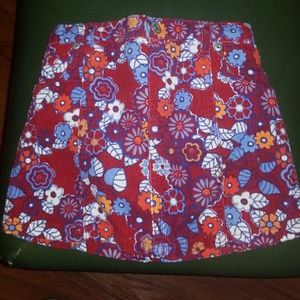 Children's Place Corduroy Floral Skirt/Diaper Cov