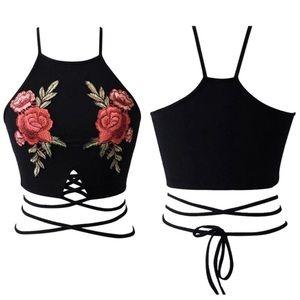 0200f2755cf50 Tops - 💥TUMBLR ROSE FLORAL WRAPAROUND💥