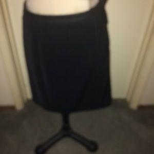 Cache flirty black leather waist skirt 12